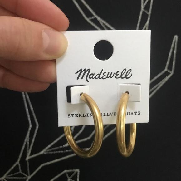 dfffd9fa9c4a6e Madewell Jewelry | Chunky Medium Hoop Earring Gold | Poshmark